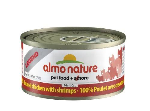 Almo Nature Adult Cat Food - Chicken & Shrimp, 2.47oz
