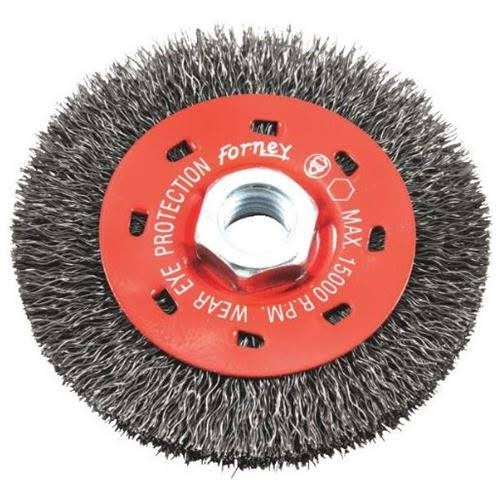 Forney Threaded Arbor Coarse Crimped Wire Wheel Brush - 4in x 5/8in-11