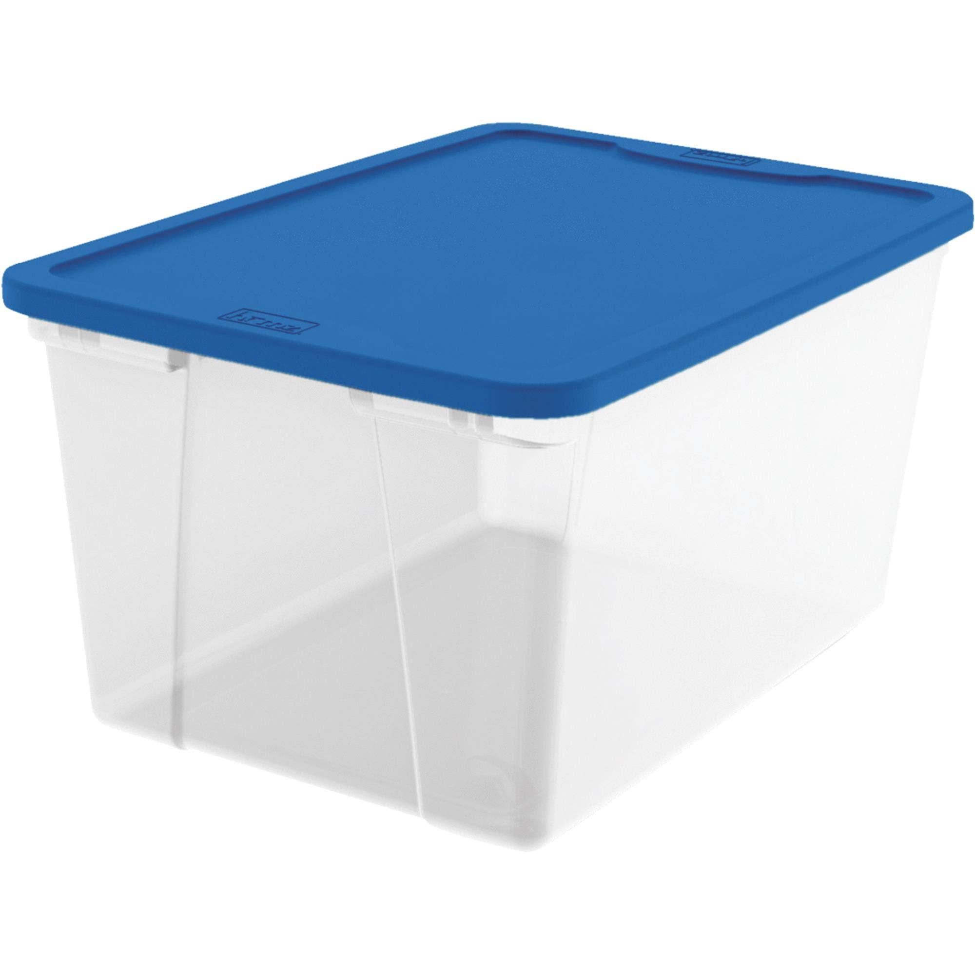 Homz Products/Storage 3264CLBL.06 64 Quart Clear Storage Tote