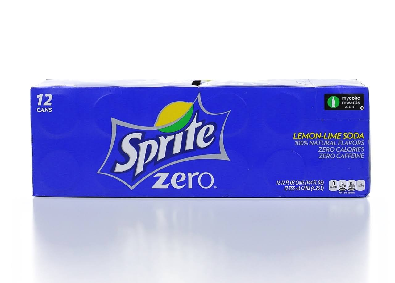 Sprite Zero Lemon Lime Soda - 12 Pack
