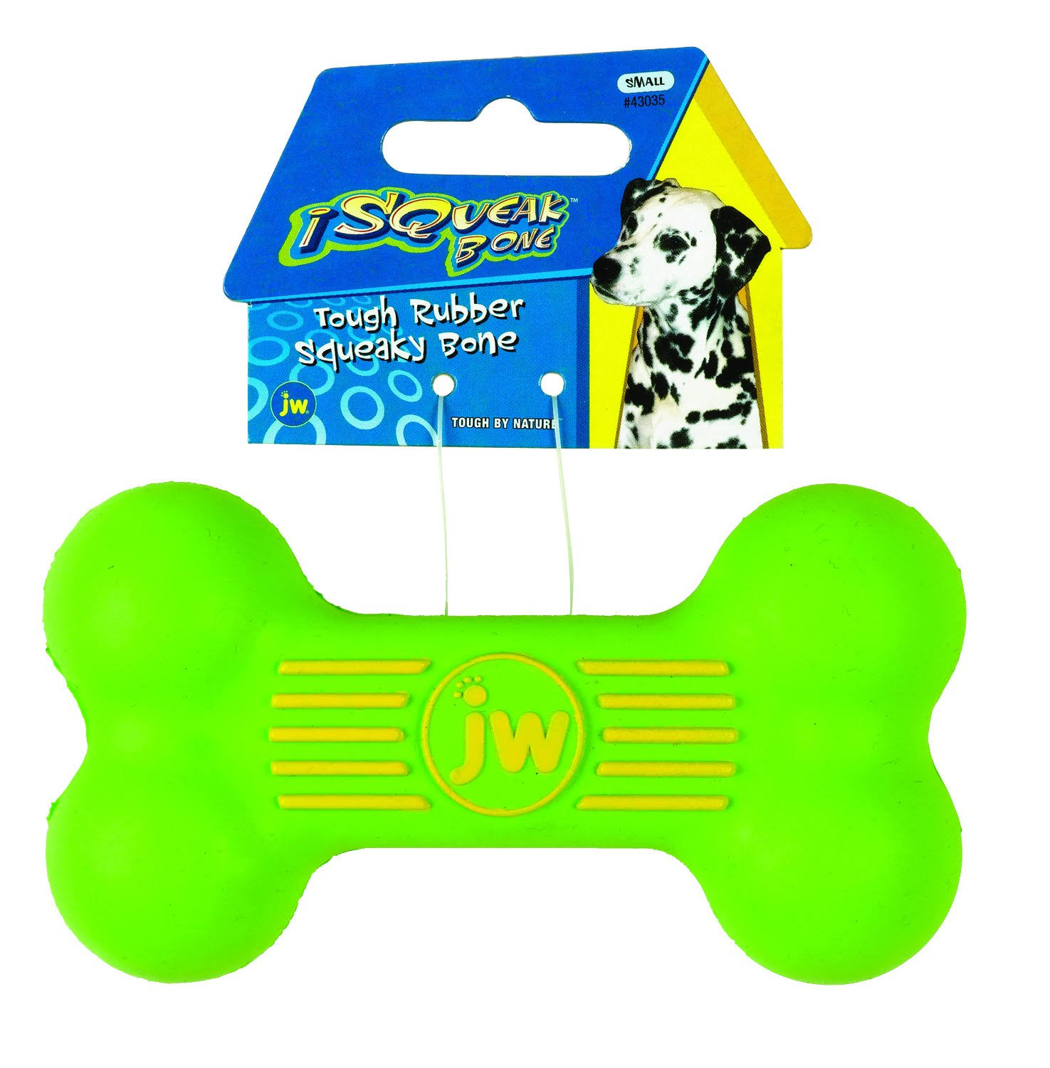 JW Pet Company iSqueak Bone Rubber Dog Toy - Small, Colors Vary