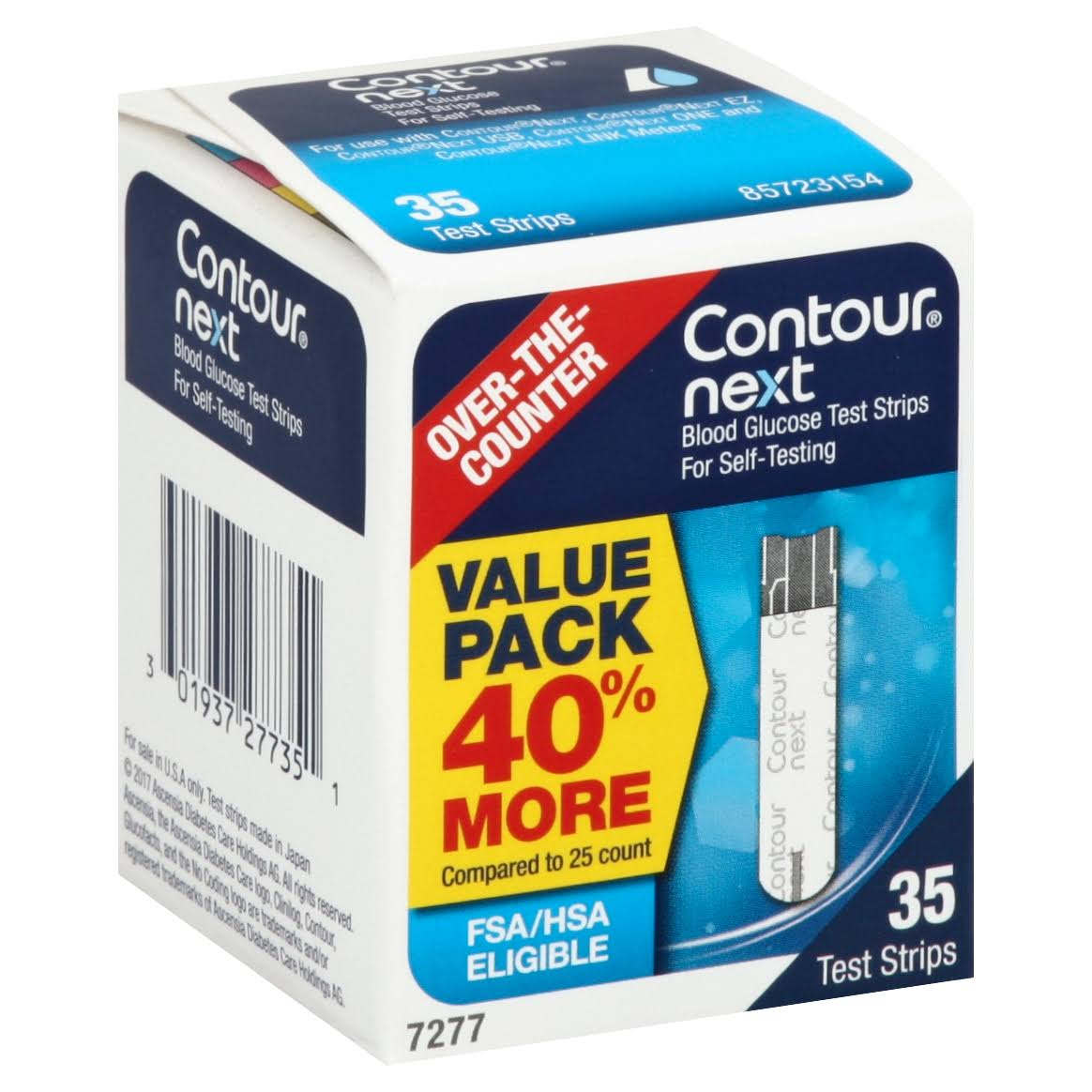 Contour Next Blood Glucose Test Strips - 35 Strips