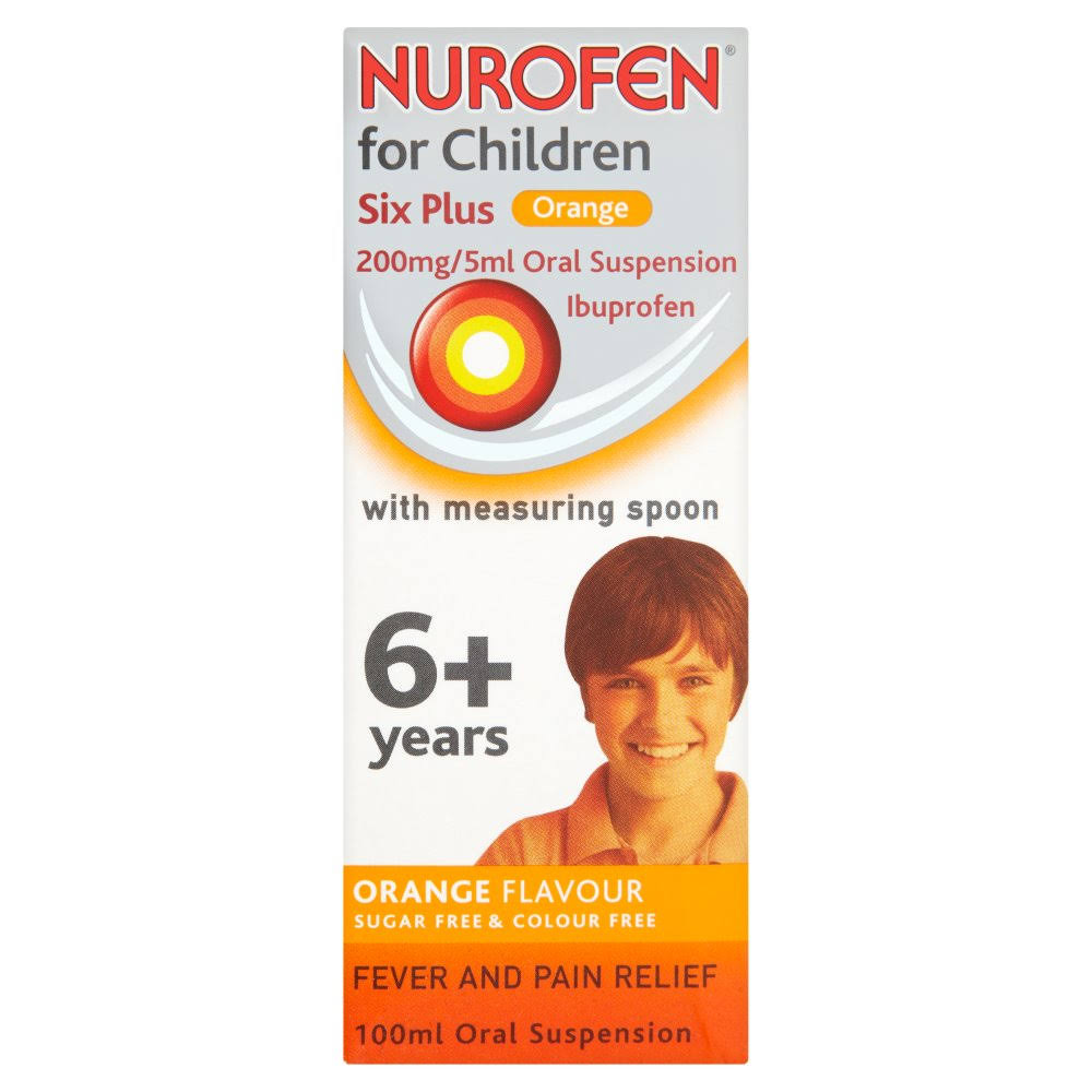 Nurofen For Children 6 Plus Ibuprofen - 100ml, Orange, 200mg