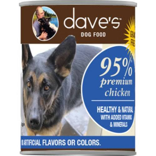 Dave's Pet Food 95% Premium Meats Chicken Recipe Canned Dog Food 13oz