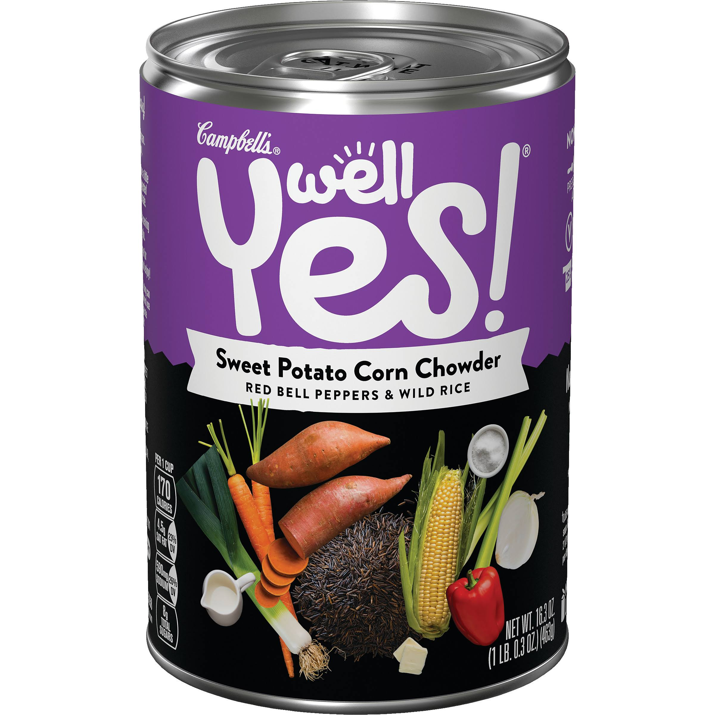 Campbell's Well Yes Sweet Potato Corn Chowder Soup - 16.3oz