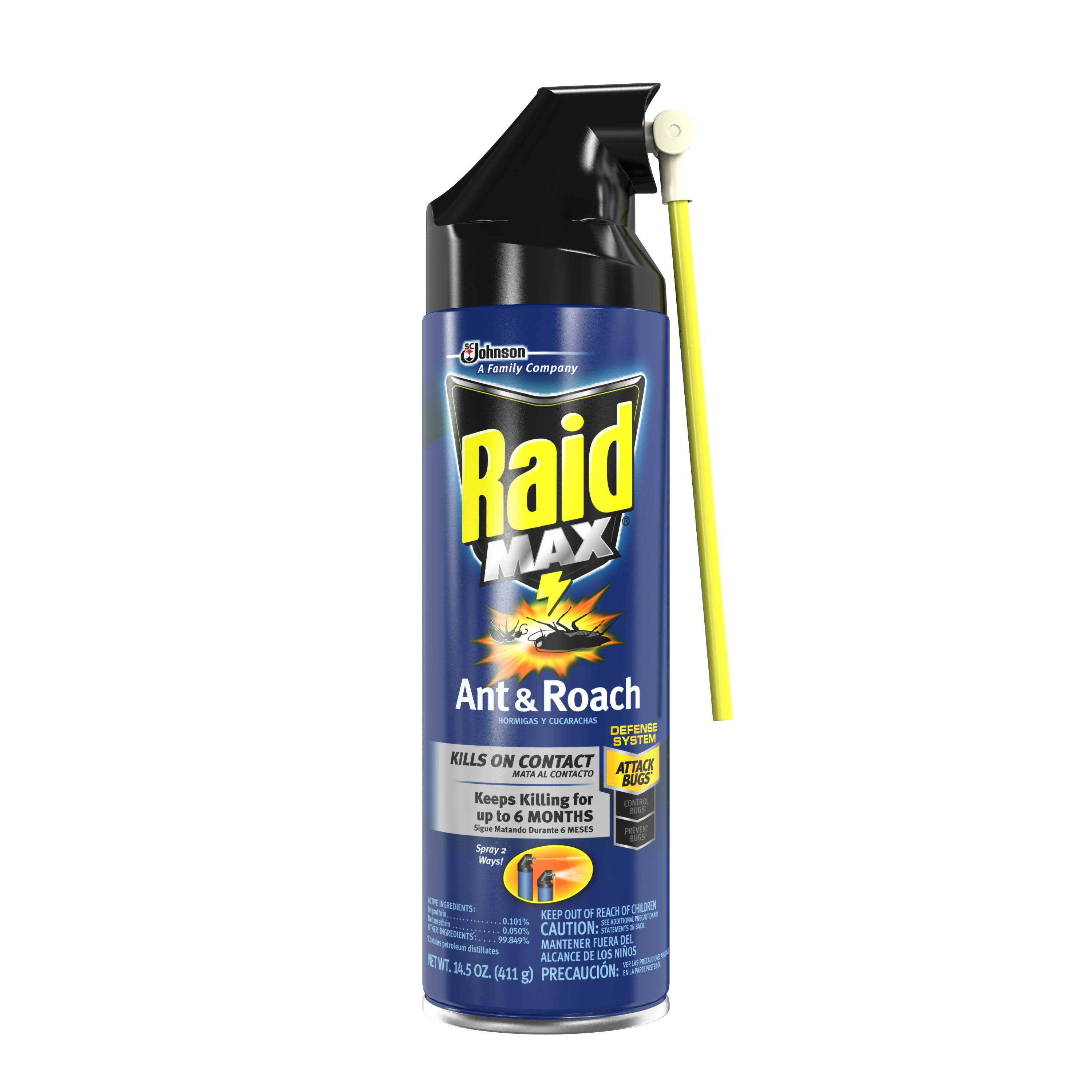 Raid Max Ant and Roach Spray - 14.5oz