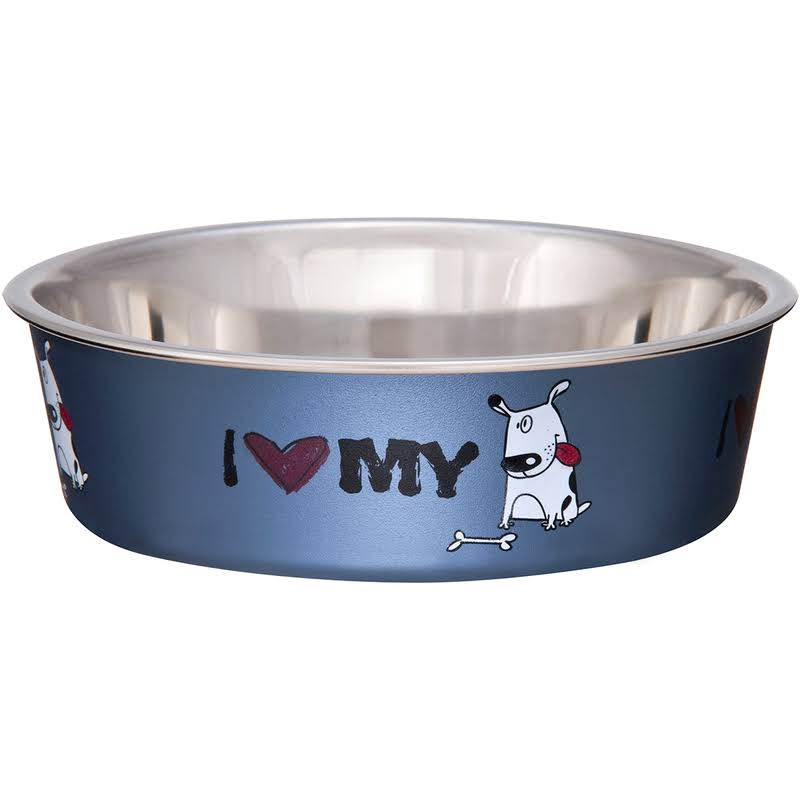 Loving Pets Steel I Love My Dog Bella Bowl - 1qt