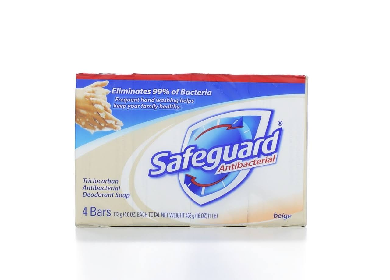 SafeGuard Antibacterial Deodorant Soap - 4pk