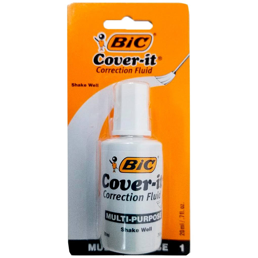 Bic Wite Out Cover-It Correction Fluid - 20ml
