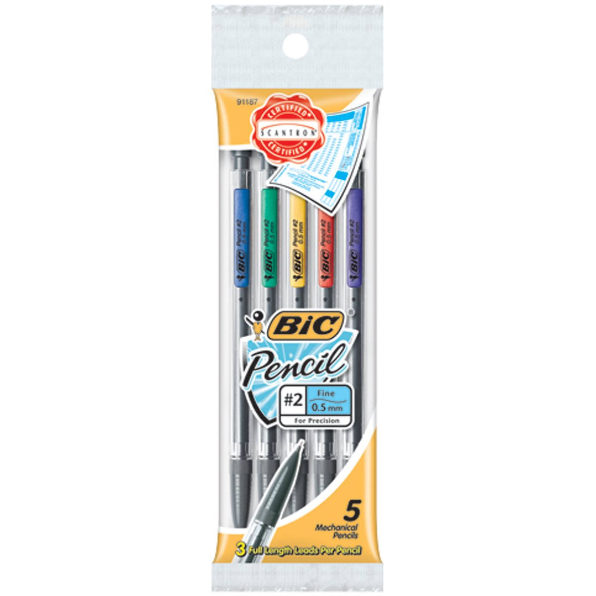 Bic Pencil Xtra Precision - 5 Pencils, 0.5mm