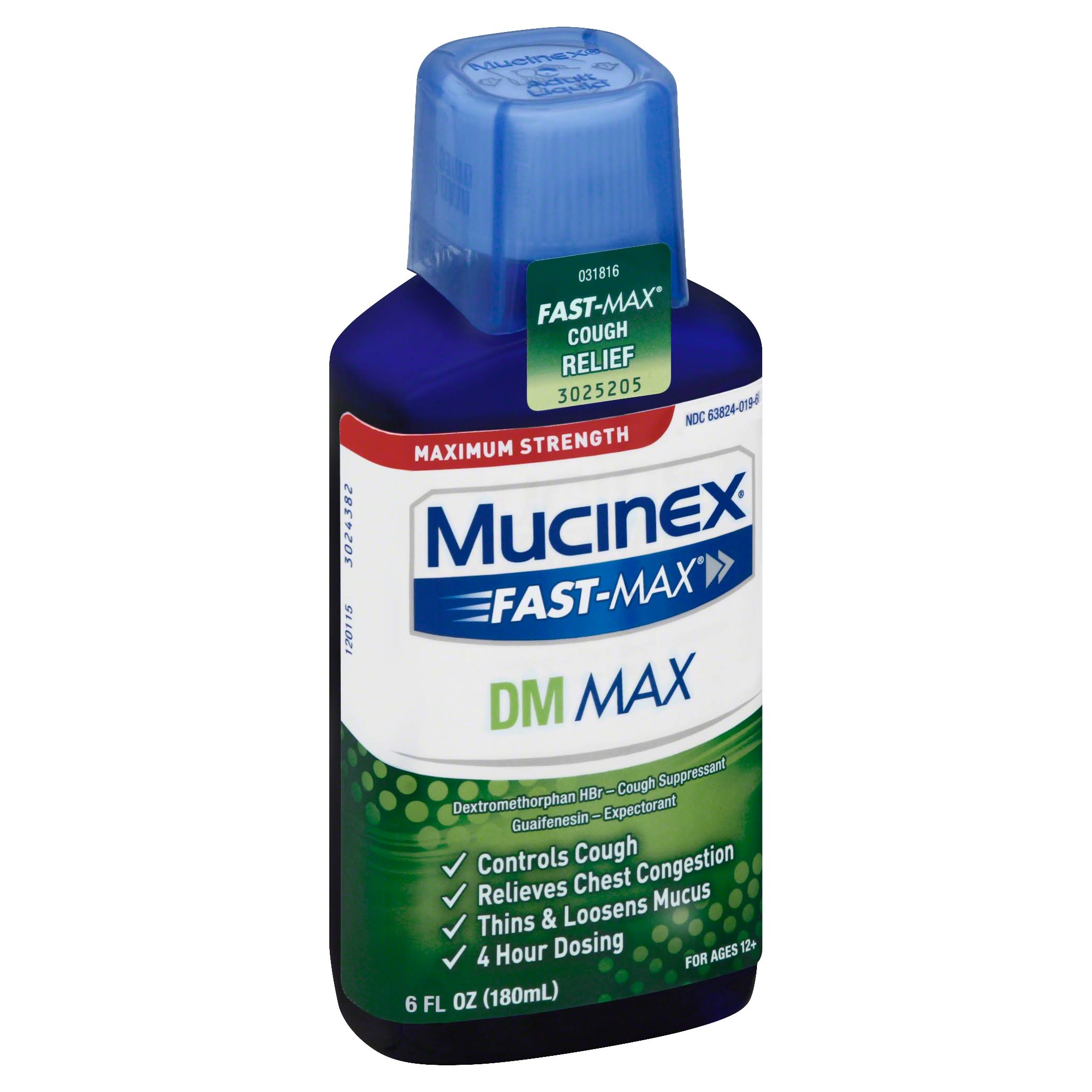 Mucinex Fast-Max Maximum Strength Dm Max Cough Relief - 180ml