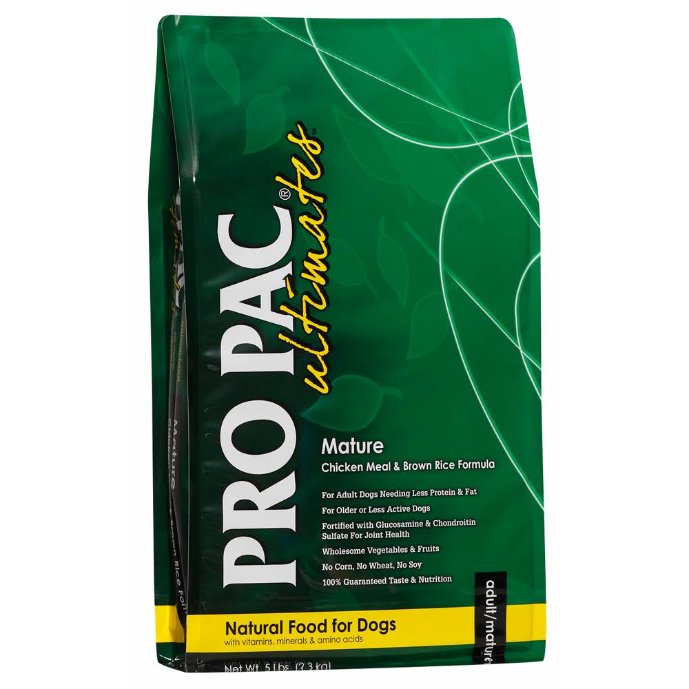 Midwestern Pet Foods Pro Pac Ultimates Natural Dog Food - Mature Chicken Meal and Brown Rice Formula, 5lbs