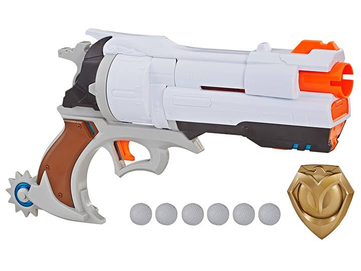 Nerf Rival Overwatch McCree Blaster with Die Cast Badge,6 Rival Rounds