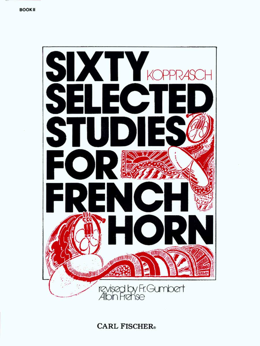 Carl Fischer 60 Selected Studies for French Horn Book 2