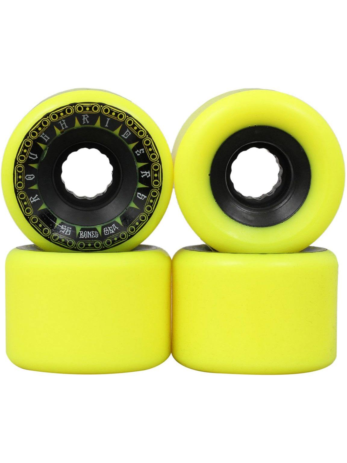 Bones Rough Riders Tank Skateboard Wheels - Yellow, 56mm