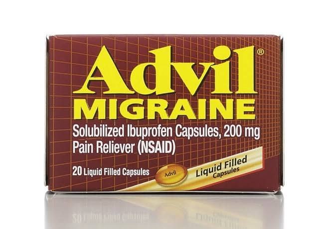 Advil Migraine Liquid Filled Softgel Caplet