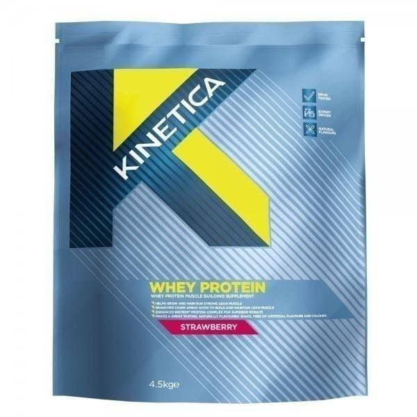 Kinetica Whey High Protein Supplement - Strawberry, 4.5kg