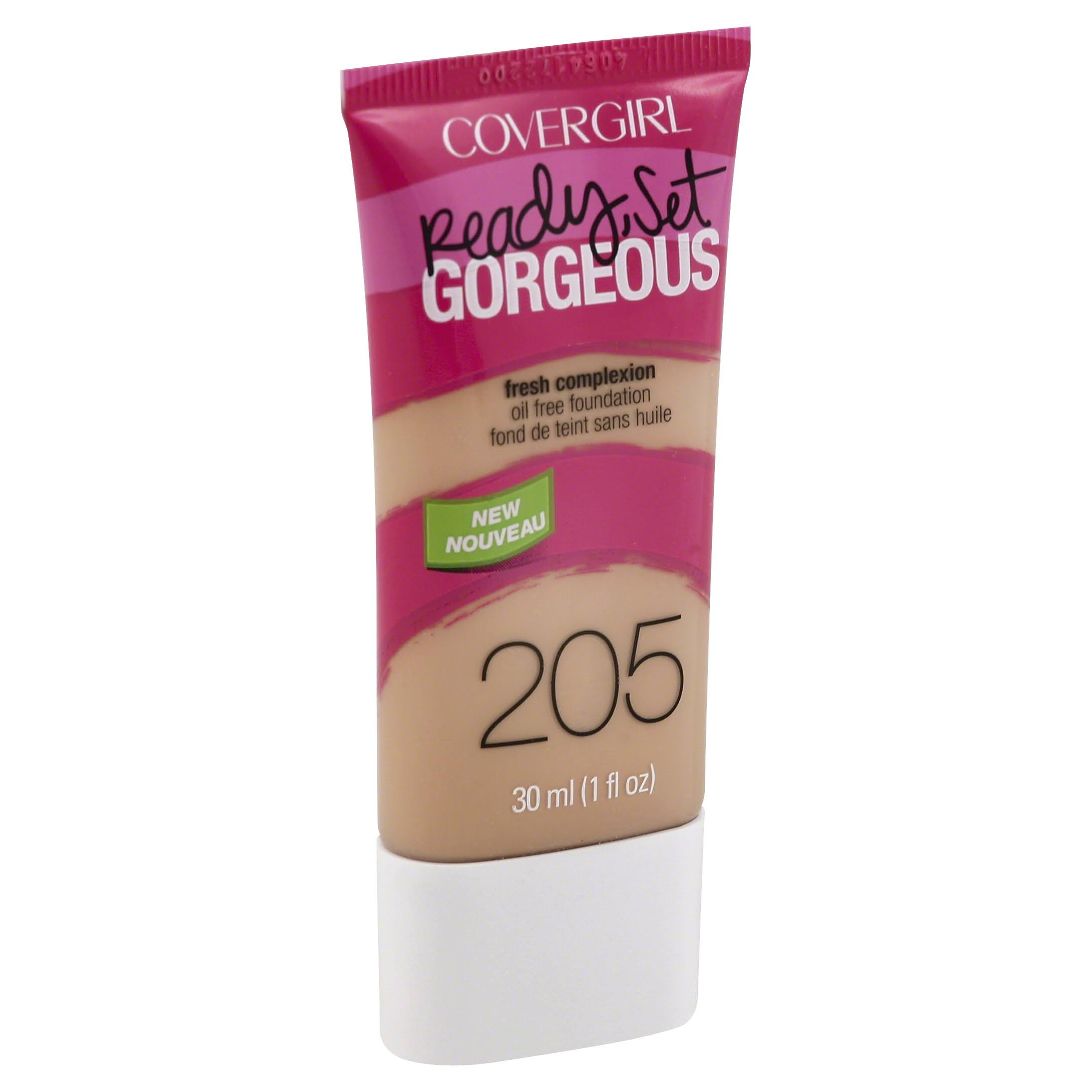 CoverGirl Ready Set Gorgeous Foundation - 205 Natural Beige, 1oz