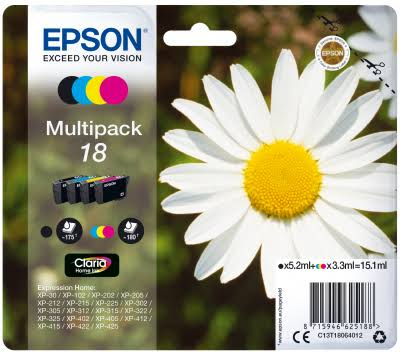 Epson 18 Daisy Ink Cartridge - Multi Pack