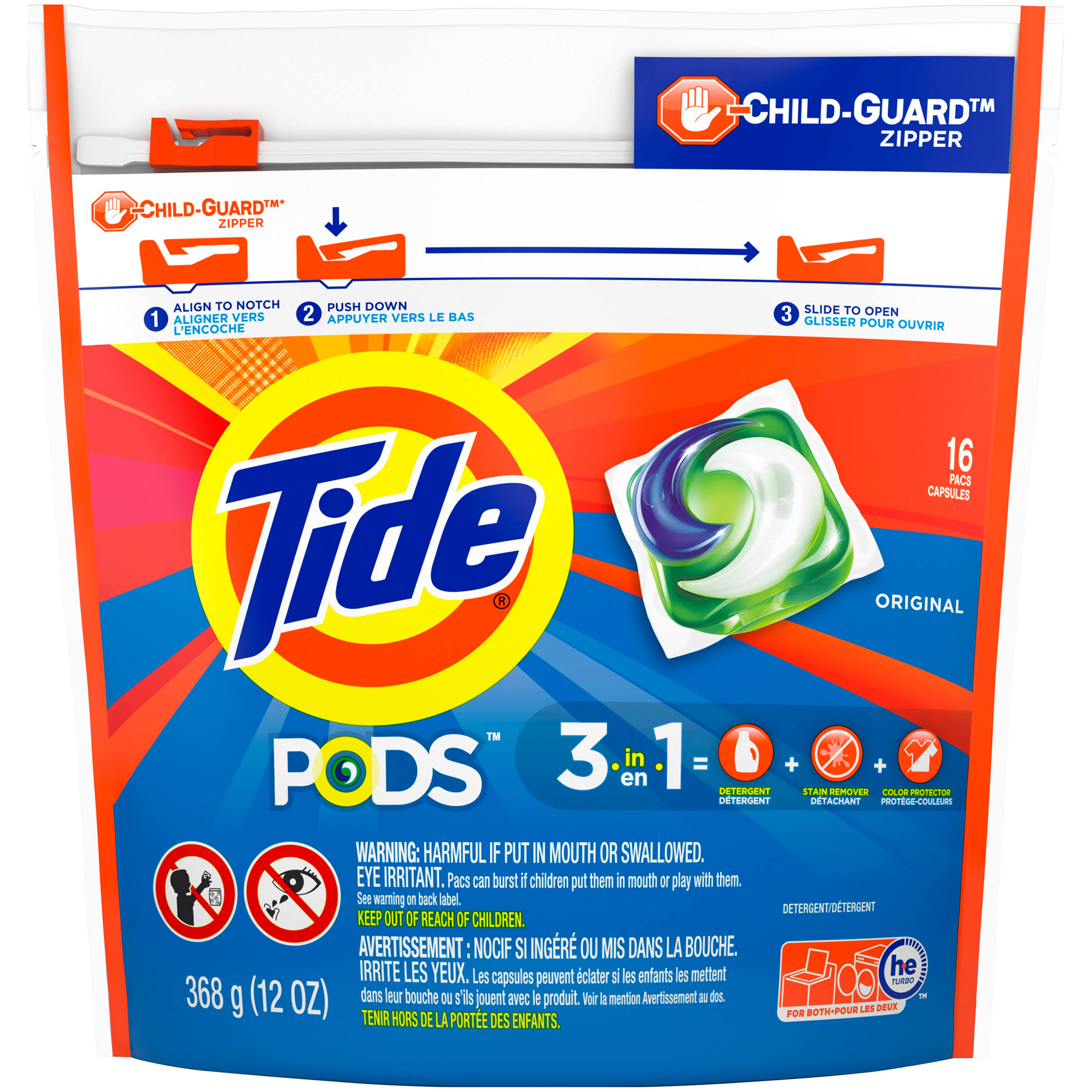 Tide Pods Detergent Pacs - Original, 16ct