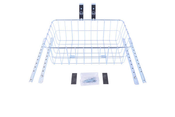 Wald 1372 Standard Basket with Multifit Braces Silver - Small (15 x 10 x 5)