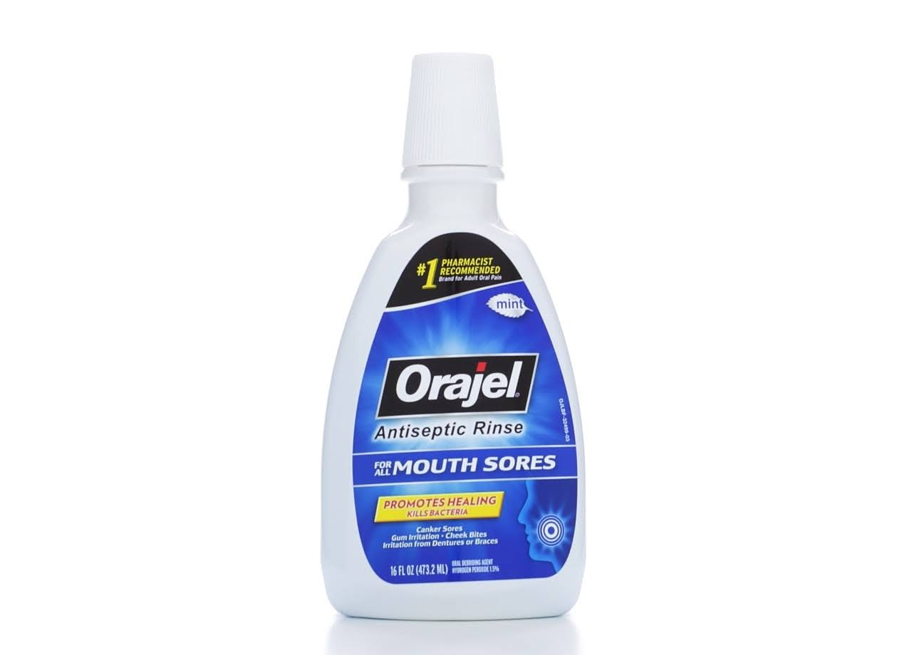 Orajel Antiseptic Mouth Rinse - 16oz, Fresh Mint