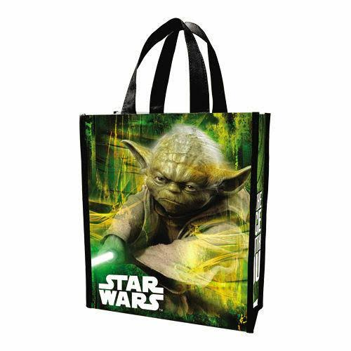 Star Wars Yoda Small Recycled Shopper Tote - Vandor, Green, Black and White