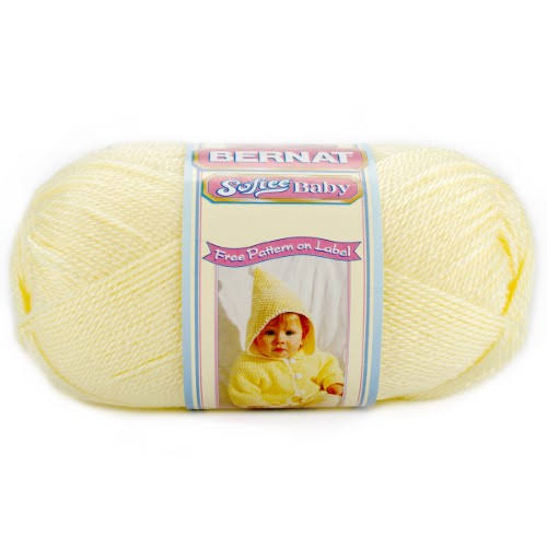 Bernat Softee Baby Yarn - Lemon, 140g, 362yds