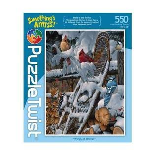 PuzzleTwist Wings of Winter Hidden Images Jigsaw Puzzle - 550pcs