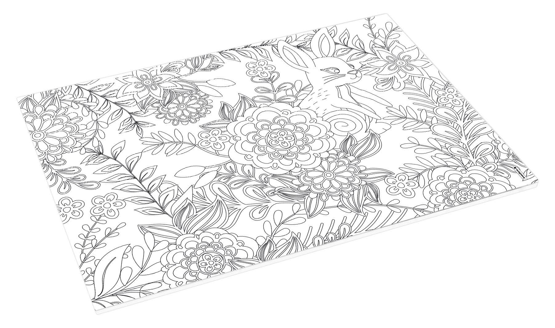 Abbott Collection Adult Colouring Table Mats White