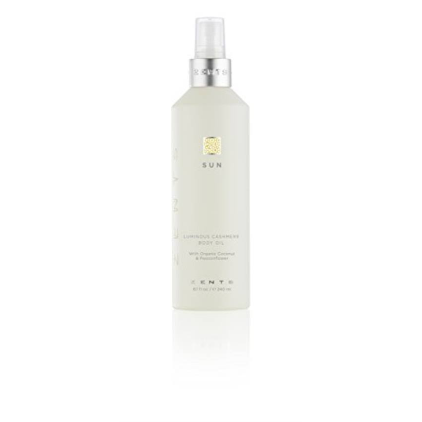 Zents Luminous Cashmere Body Oil with Organic Coconut Oil and Passionflower - Sun, 8.4oz