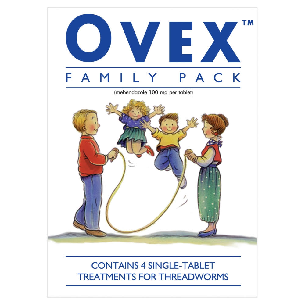 Ovex Family Pack Treatments for Threadworms - 4 Tablets