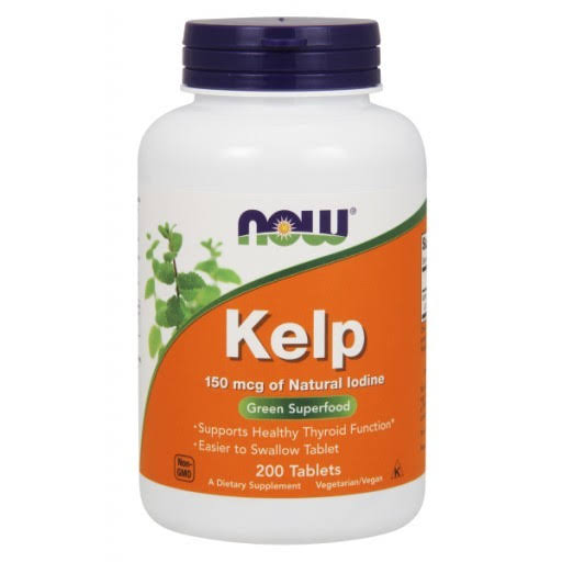 Now Foods Kelp - 150mcg, 200 Tablets