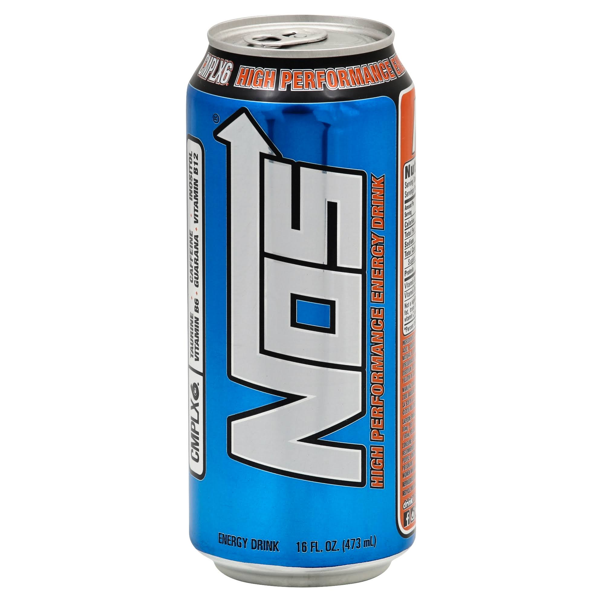 Nos Energy Drink, High Performance - 16 fl oz
