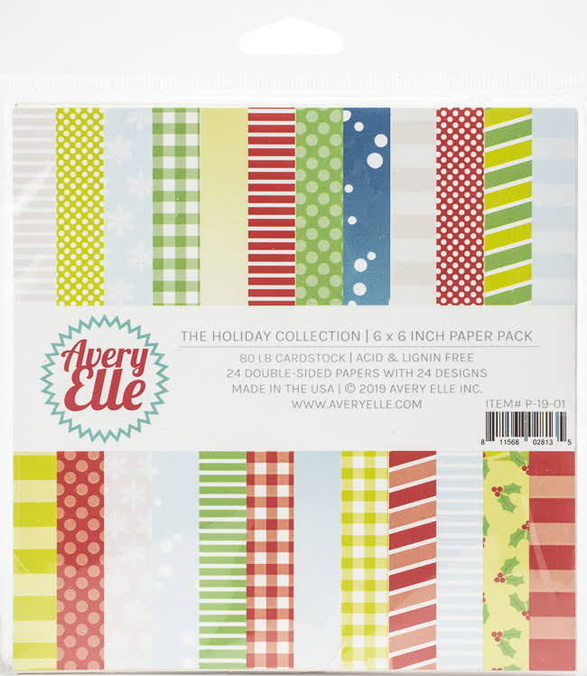 Avery Elle Paper Pad 6x6 The Holiday Collection