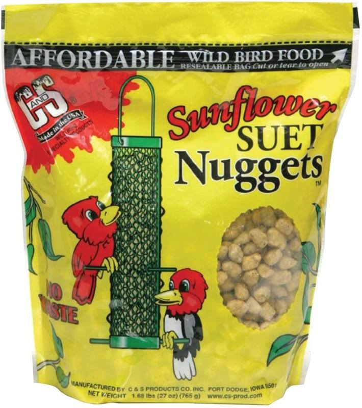 C and S Cs06110 Sunflower Suet Nuggets Bird Food - 27oz