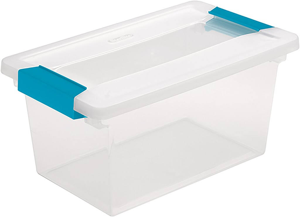 Sterilite 19628604 Medium See Through Storage Boxes - with Blue Aquarium Latches