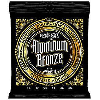 Ernie Ball Aluminum Bronze Medium Acoustic String Set