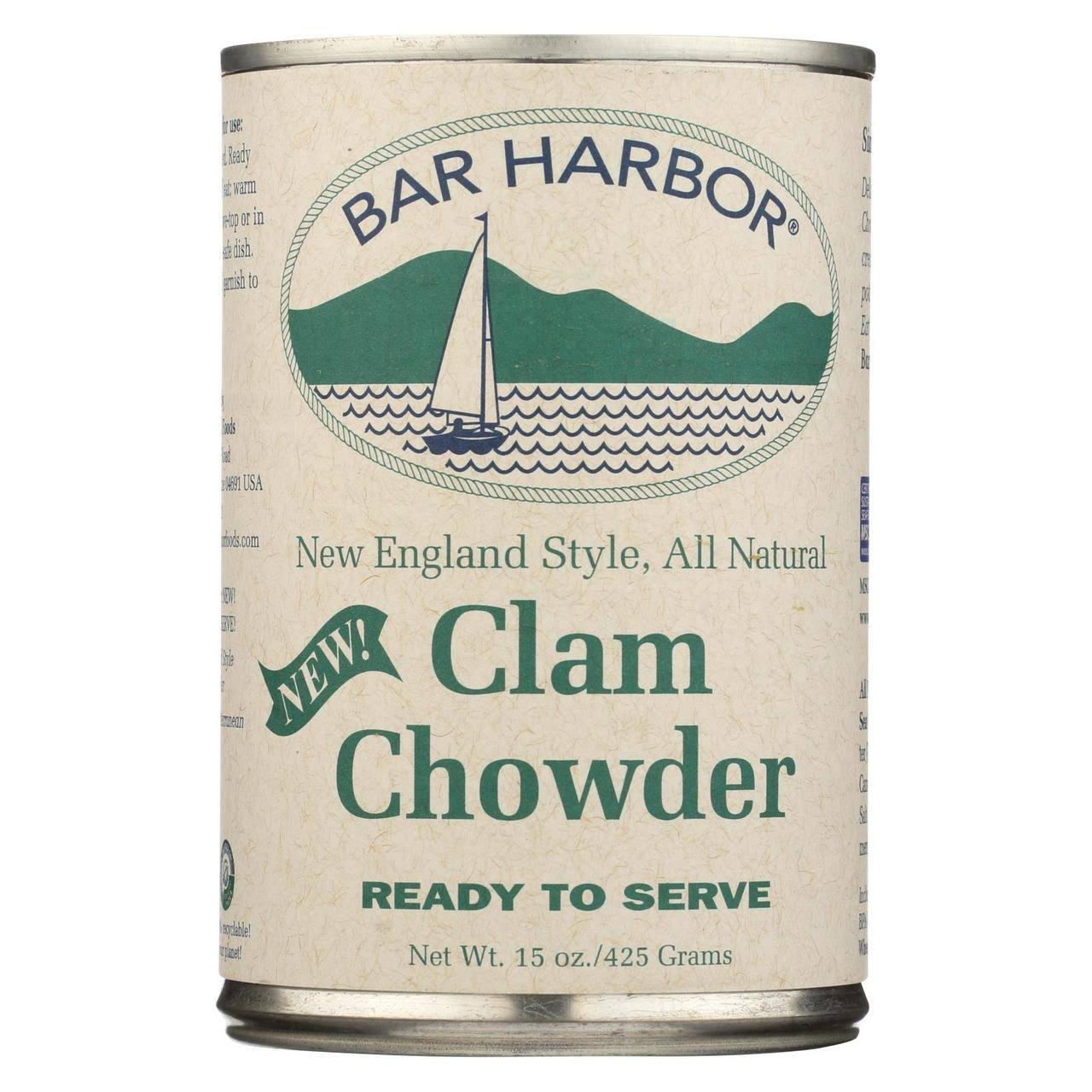 Bar Harbor Clam Chowder, New England Style - 15 oz