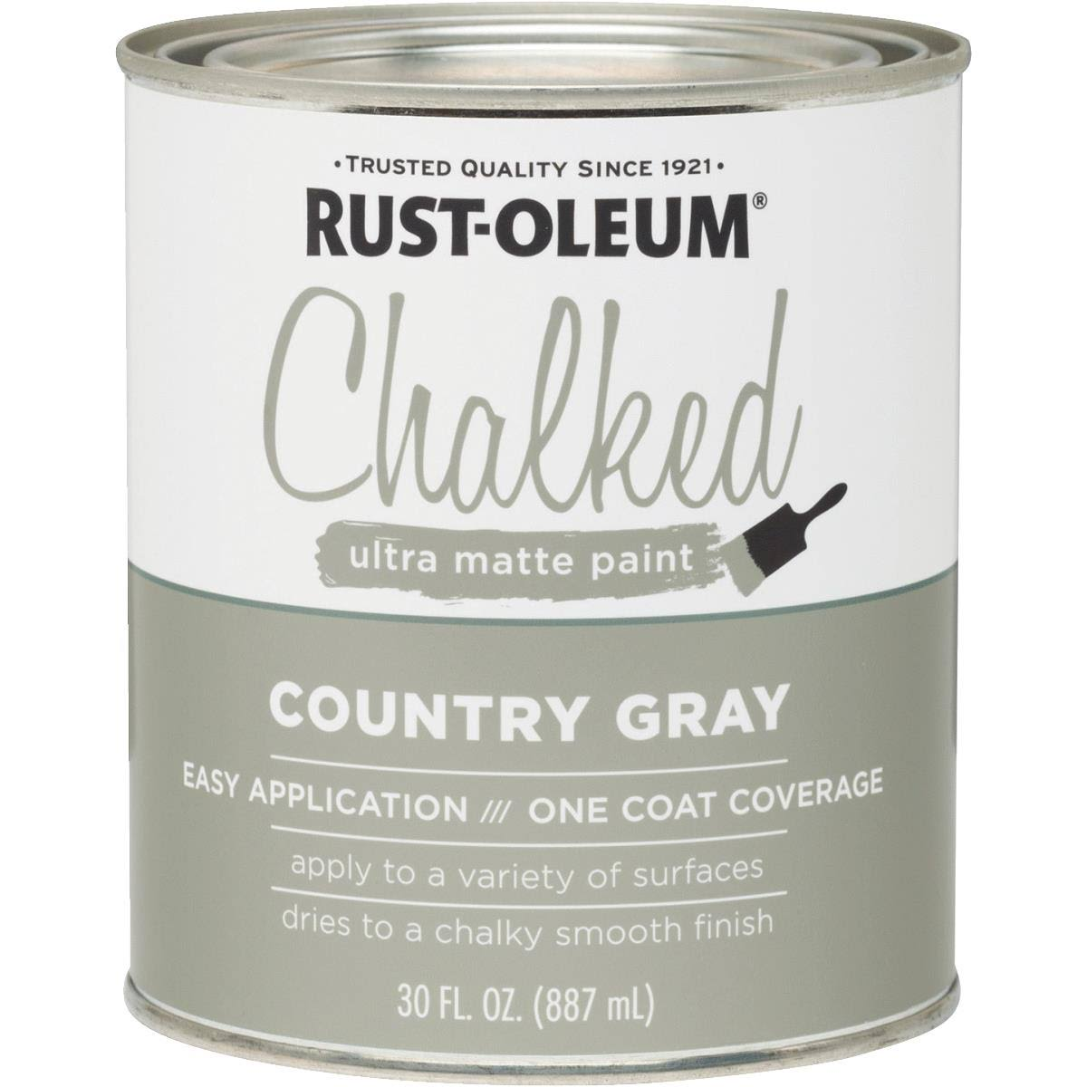 Rust-Oleum 285141 Ultra Matte Interior Chalked Paint - Country Gray, 30oz