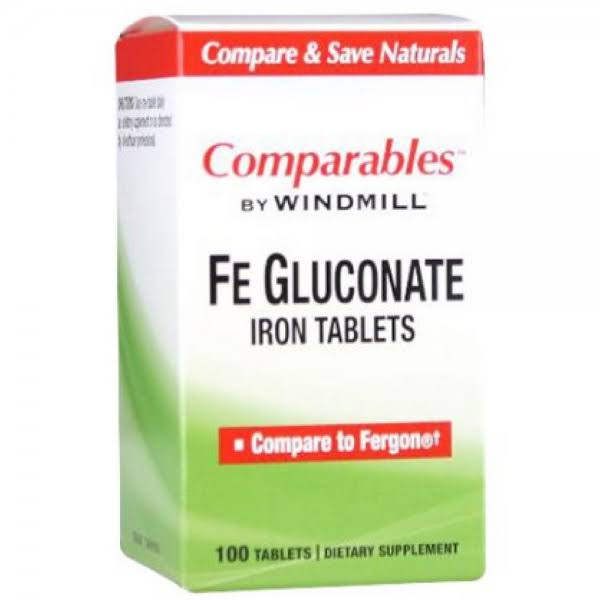 Windmill Ferrous Gluconate Iron Tablets - 325mg, 100 tablets