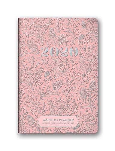 Orange Circle Studio 2020 Monthly Pocket Planner, Floral Vines Pink