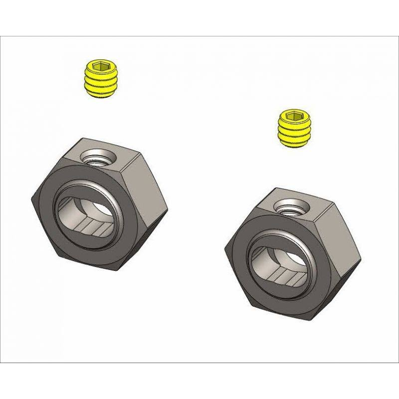 MiP X-Duty Keyed CVD Hex Adapter Set - 12mm, 2pk