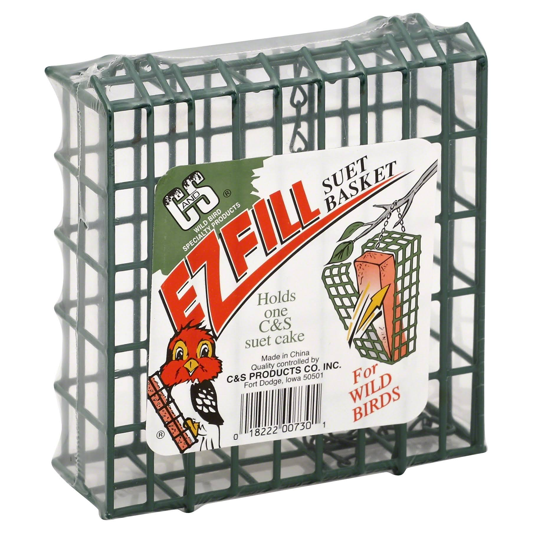 C and S Products Ez Fill Suet Basket - Green, 5.5""