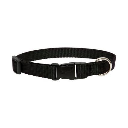 Lupine Dog Collar Black 9-14""
