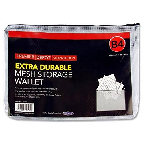 Premier Stationery Premier Depot B4 Extra Durable Mesh Storage Wallet