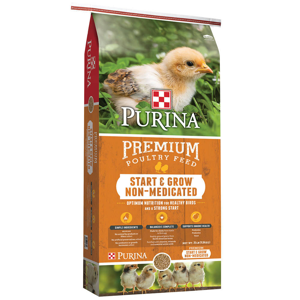 Purina Animal Nutrition Poultry Feed - Start and Grow Non-Medicated