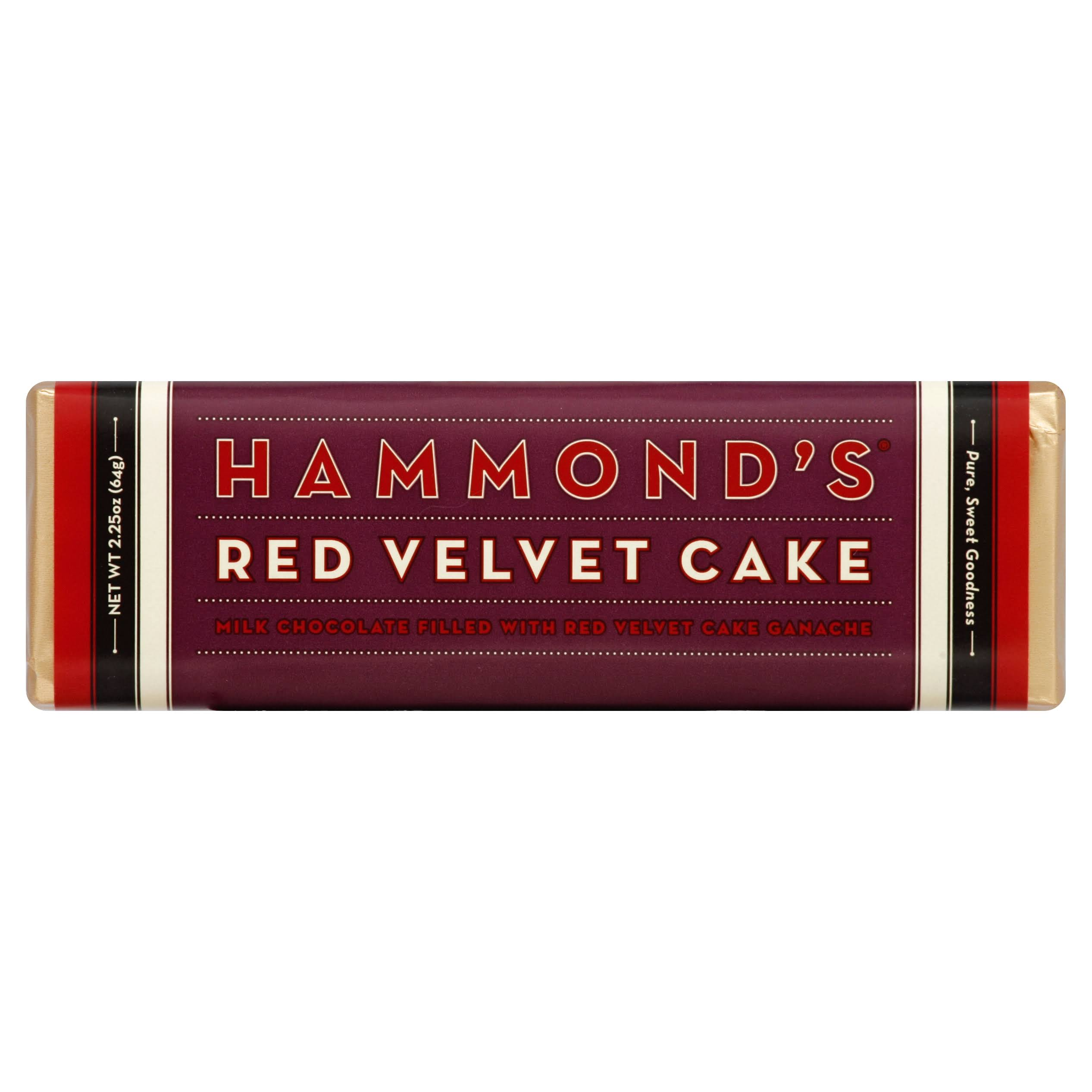 Hammond's Milk Chocolate Filled With Red Velvet Cake Ganache
