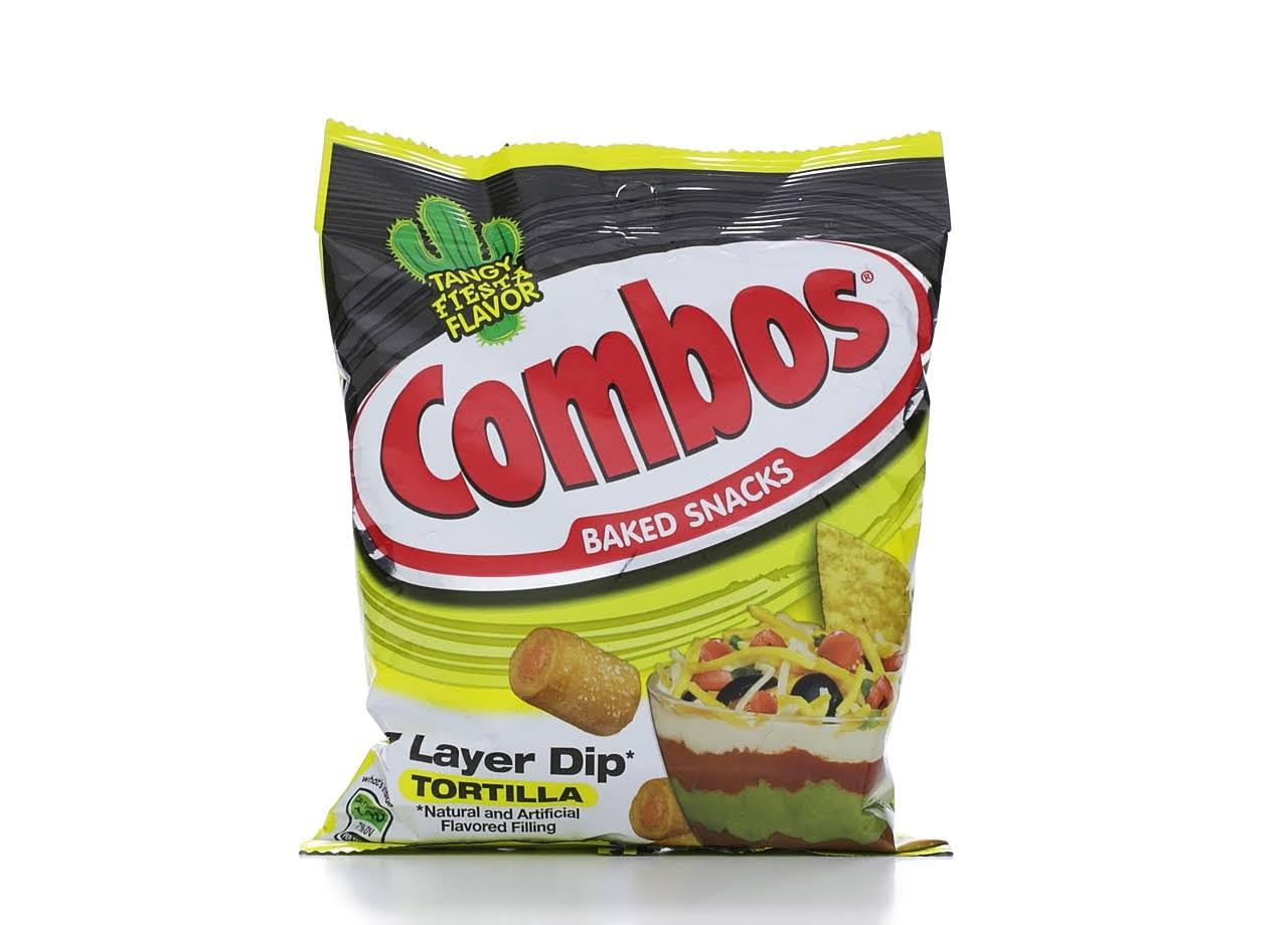 Combos 7 Layer Dip Tortilla Baked Snacks - 6.3oz