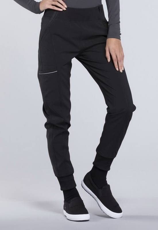 Cherokee CK110A Mid Rise Tapered Leg Jogger Pant - Black - S